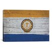 iCanvasArt Flags San Jose Wood Planks Graphic Art on Canvas