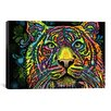iCanvas 'Tiger' by Dean Russo Graphic Art on Canvas