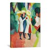iCanvasArt 'Three Girls' by August Macke Painting Print on Canvas