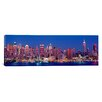 iCanvas Panoramic New York, New York City, West Side, Skyscrapers in a City During Dusk Photographic Print on Canvas