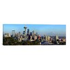 iCanvas Panoramic 'Seattle City Skyline with Mount Rainier in The Background, King County, Washington State 2010' Photographic Print on Canvas