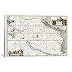 "<strong>iCanvasArt</strong> ""Sea Chart of North American Discovery"" Canvas Wall Art by Jan Jansson"