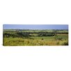 iCanvasArt Panoramic Three Mountain Bikers on a Hill, Kansas Photographic Print on Canvas
