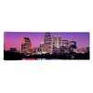 <strong>iCanvasArt</strong> Panoramic Panoramic Texas, Austin, View of an Urban Skyline at Night Photographic Print on Canvas