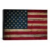 iCanvasArt Flags U.S.A. Wood Graphic Art on Canvas