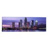 iCanvasArt Panoramic Florida, Tampa, View of an Urban Skyline at Night Photographic Print on Canvas
