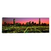 iCanvas Panoramic Illinois, Chicago, High Angle View of the City at Night Photographic Print on Canvas