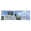 iCanvas Panoramic Ohio, Columbus, Clouds over Tall Building Structures Photographic Print on Canvas