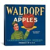 iCanvas Waldorf Apples Vintage Crate Label Canvas Wall Art