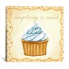 "<strong>iCanvasArt</strong> ""Vanilla Cupcake"" Canvas Wall Art by Jennifer Nilson"