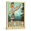 iCanvas 'Vancouver, Canada' by Anderson Design Group Vintage Advertisement on Canvas