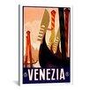 iCanvasArt Venezia Advertising Vintage Poster Canvas Print Wall Art