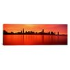 <strong>iCanvasArt</strong> Panoramic Illinois, Chicago, Sunset Photographic Print on Canvas