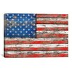<strong>iCanvasArt</strong> 'U.S.A. Vintage Wood' by Maximilian San Graphic Art on Canvas
