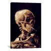 <strong>iCanvasArt</strong> 'Skull with Cigarette 1885' by Vincent Van Gogh Painting Print on Canvas