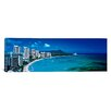 iCanvasArt Panoramic Waikiki Beach Honolulu Oahu HI Photographic Print on Canvas