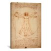<strong>iCanvasArt</strong> 'Vitruvian Man 1492' by Leonardo Da Vinci Graphic Art on Canvas