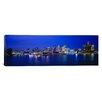 iCanvas Panoramic Michigan, Detroit, Night Photographic Print on Canvas