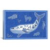 "iCanvas ""W Whale"" Canvas Wall Art by Willow Bascom"