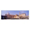 iCanvasArt Panoramic Vatican, St. Peters Square, Rome, Italy Photographic Print on Canvas