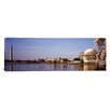 iCanvas Panoramic Washington, D.C, Washington Monument and Jefferson Memorial, Tourists Outside the Memorial Photographic Print on Canvas