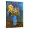 <strong>iCanvasArt</strong> 'Vase of Lilacs, Daisies, and Anemones' by Vincent Van Gogh Painting Print on Canvas