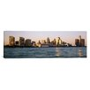 iCanvas Panoramic Skyline Detroit MI Photographic Print on Canvas