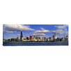 <strong>iCanvasArt</strong> Panoramic Illinois, Chicago, Panoramic View of an Urban Skyline by the Shore Photographic Print on Canvas