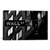 iCanvasArt Political Wall Street Sign Photographic Print on Canvas