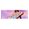 iCanvasArt Panoramic Sign, Las Vegas Nevada Photographic Print on Canvas