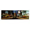 <strong>iCanvasArt</strong> Panoramic Times Square, Manhattan, New York City Photographic Print on Canvas