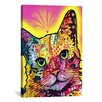 iCanvas 'Tilt Cat' by Dean Russo Graphic Art on Canvas