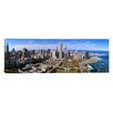 iCanvasArt Panoramic Illinois, Chicago, Millennium Park, Pritzker Pavilion, Aerial View of a City Photographic Print on Canvas