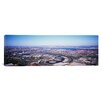 iCanvas Panoramic New Jersey, Newark Airport, Aerial View with Manhattan in Background Photographic Print on Canvas