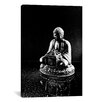 iCanvasArt Stone Buddha Sculpture Photographic Print on Canvas