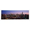 iCanvasArt Panoramic 'Skyscrapers in a City Lit up at Dusk, Chicago, Illinois' Photographic Print on Canvas