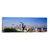 iCanvas Panoramic Mt Rainier, Space Needle, Seattle, Washington State Photographic Print on Canvas