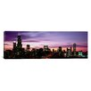 iCanvas Panoramic Skyscrapers at Dusk, Chicago, Illinois Photographic Print on Canvas