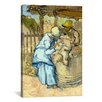 <strong>iCanvasArt</strong> 'The Sheep-Shearer (After Millet)' by Vincent Van Gogh Painting Print on Canvas