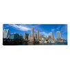 iCanvasArt Panoramic Skyscrapers at the Waterfront, Boston, Massachusetts Photographic Print on Canvas