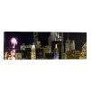 iCanvas Panoramic 'Skyscrapers and Firework Display in a City at Night, Lake Michigan, Chicago, Illinois' Photographic Print on Canvas