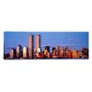 iCanvasArt Panoramic 'Skyscrapers in a City, Manhattan, New York City' Photographic Print on Canvas