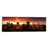 iCanvasArt Panoramic Sunset Cityscape Chicago, Illinois Photographic Print on Canvas
