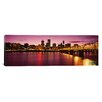 iCanvas Panoramic Skyscrapers Lit up at Sunset, Willamette River, Portland, Oregon Photographic Print on Canvas