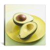 iCanvas Sliced Avocado on a Plate Photographic Canvas Wall Art