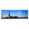 iCanvas Panoramic Statue Viewed Through a Ferry, Statue of Liberty, Liberty State Park, Liberty Island, New York City Photographic Print on Canvas