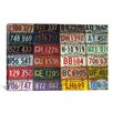 iCanvasArt Photography State License Plates Textual Art on Canvas