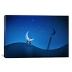 iCanvas Kids Children Stealing the Moon Canvas Wall Art