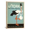 iCanvas Anderson Design Group Stork Delivery Service Canvas Wall Art