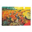 iCanvasArt 'The Red Vineyard At Arles' by Vincent Van Gogh Painting Print on Canvas